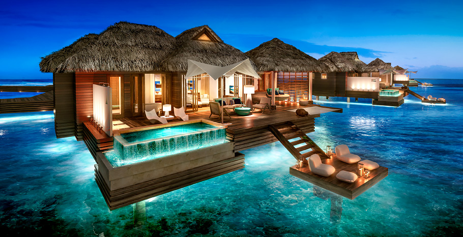 Sandals Bungalows at Royal Caribbean private island Jamaica