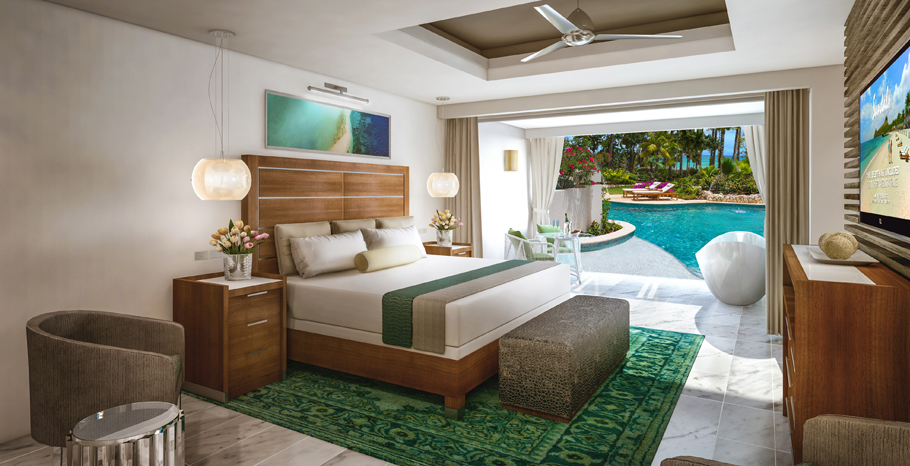 Oceanfront Swim-up Butler Suite w/ Patio Tranquility Soaking Tub - OSS