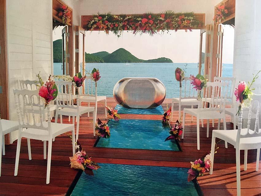 over the water wedding chapel