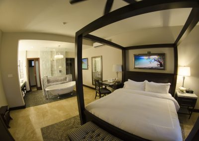 Romantic honeymoon suites at Sandals Royal Caribbean Resort.
