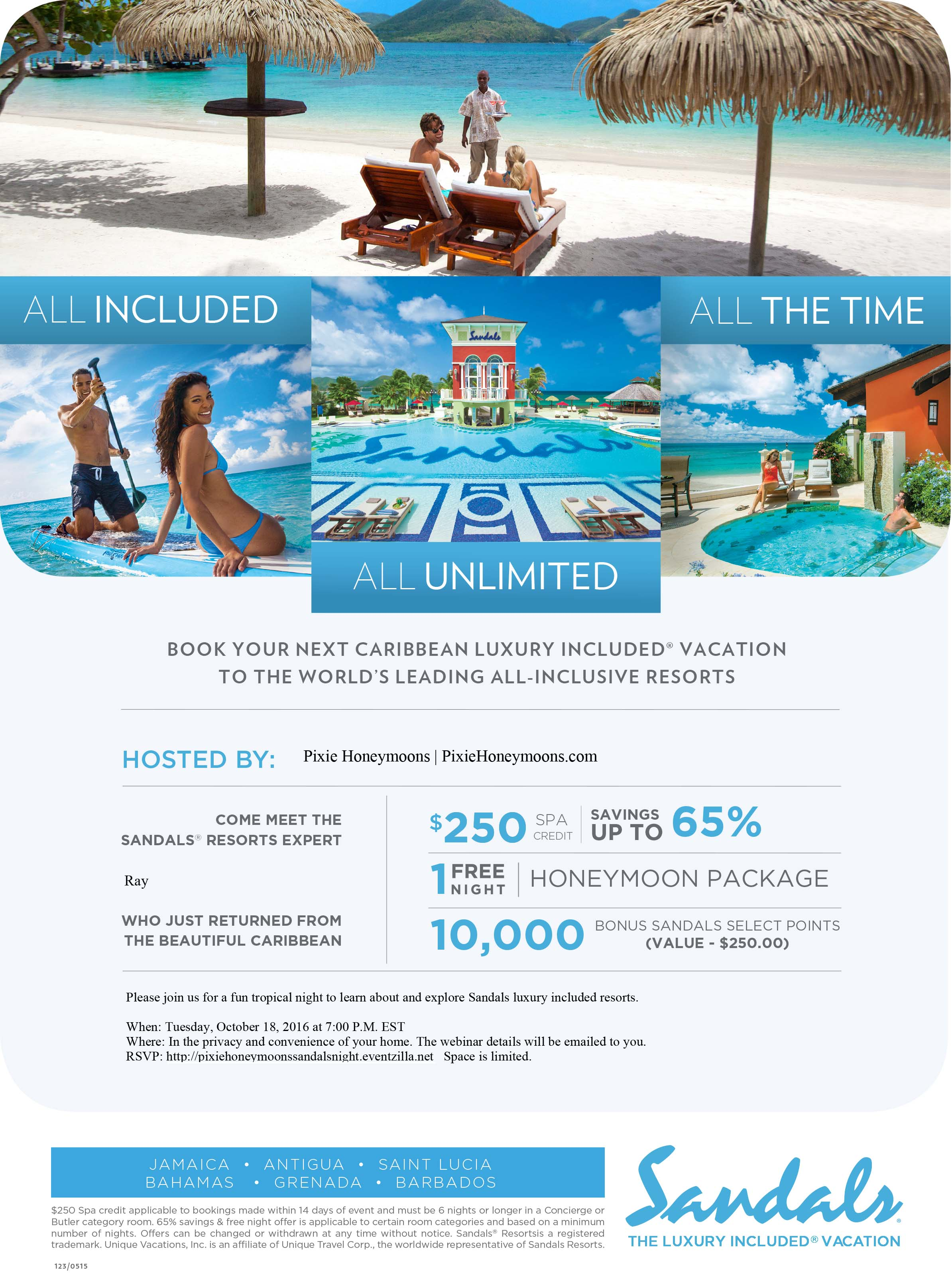 Sandals Caribbean Nights Invitation