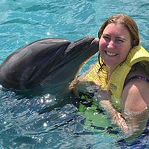 jennifer webster pixie honeymoons swim with dolphins