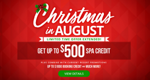 Sandals resort Christmas specials