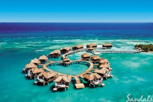 Sandals Resorts - all inclusive caribbean over teh water bungalows